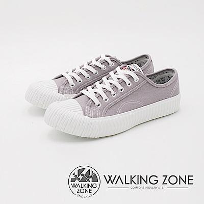 WALKING ZONE 帆布系列 防潑水簡約休閒餅乾鞋 女鞋-淺灰