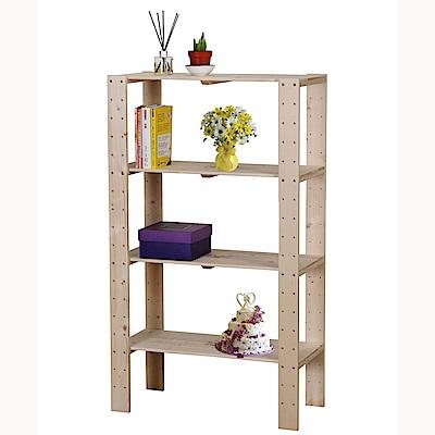 雲杉四層實木展示架/置物架 層架 收納架 書架