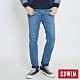 EDWIN 大尺碼 JERSEYS 迦績 復古棉中直筒牛仔褲-男-石洗藍 product thumbnail 1
