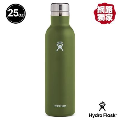 美國Hydro Flask 真空保冷 保溫 25oz/749ml 杯瓶/酒瓶 橄欖綠