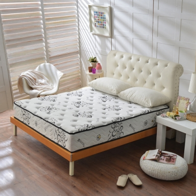 單人3.5尺-舒柔加厚款涼感天絲抗菌-護腰型蜂巢獨立筒床墊-Ally