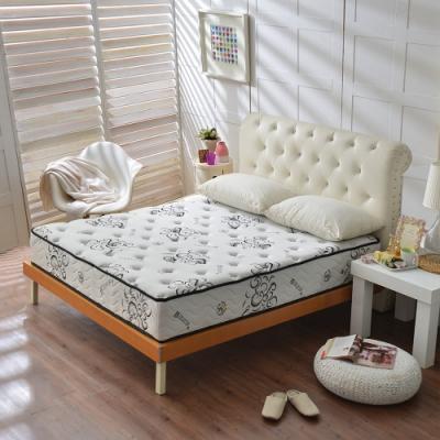 雙人加大6尺-舒柔加厚款涼感天絲抗菌-護腰型蜂巢獨立筒床墊-Ally