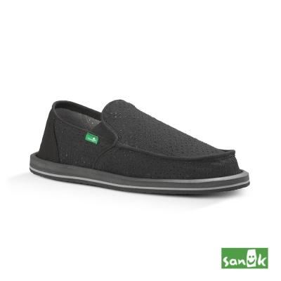 SANUK 帆布透氣懶人鞋-男款(黑色)