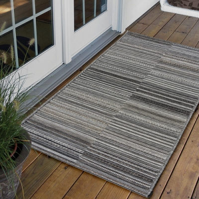 Ambience 比利時Brighton 玄關/門口平織地毯(灰色 60x110cm)