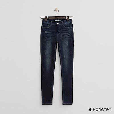 Hang Ten - 女裝 - 水洗刷色牛仔褲-深藍