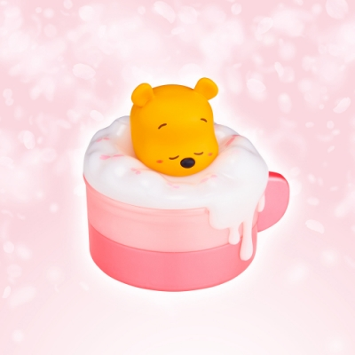 InfoThink 迪士尼系列泡泡歐蕾小夜燈收納盒- 維尼櫻花限定版