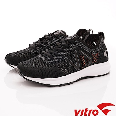 Vitro韓國專業運動品牌-Breeze Run-BLK專業慢跑鞋-黑(男)