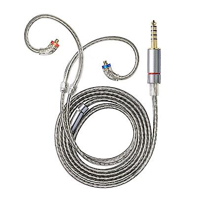FiiO 4.4mm高純度單晶銅鍍銀MMCX繞耳式耳機升級線(LC-4.4B)