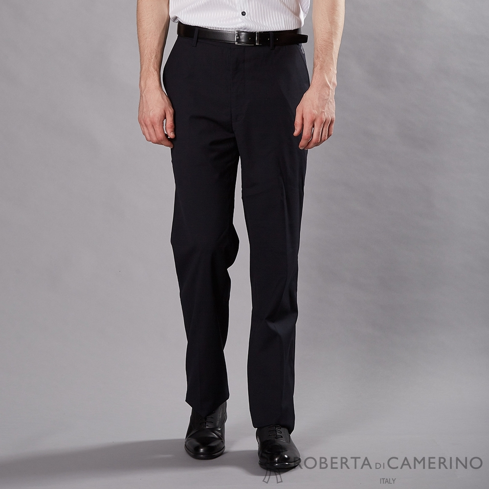 ROBERTA諾貝達 商務精英 羊毛平面西裝褲 深藍