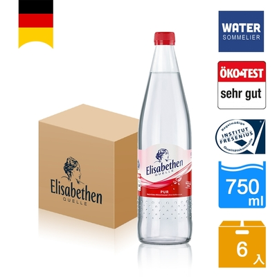 Elisabethen德國天然礦泉水750mlx6入玻璃瓶