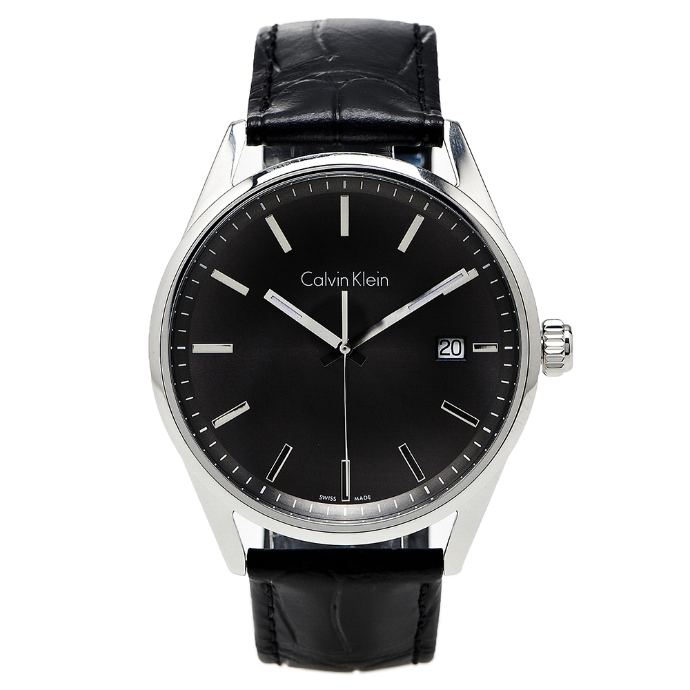 CK Calvin Klein Formality 風雅系列三針手錶(K4M211C3)-黑灰面/44mm