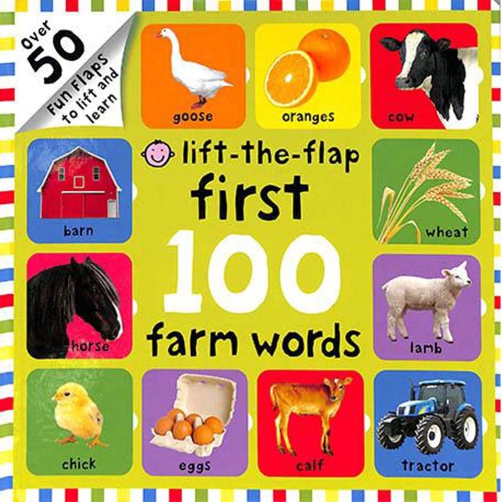 Lift-The-Flap First 100 Farm Word 翻翻操作書(美國版)