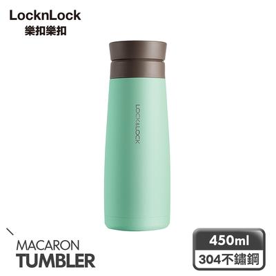 樂扣樂扣馬卡龍陶瓷保溫瓶450ml(轉蓋系列-綠)(快)
