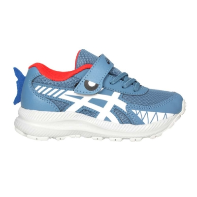 ASICS CONTEND 7 PS SCHOOL YARD男中童慢跑鞋 1014A208-404 藍白橘