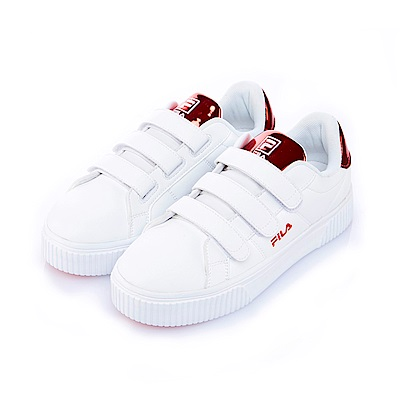 FILA #BOLD SHINY 女潮流復古鞋-鋇果紅5-C601S-200