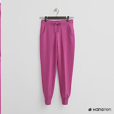 Hang Ten - 女裝 - 後口袋印字束口褲-桃紅