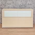 Birdie南亞塑鋼-3.5尺單人塑鋼床頭箱(白橡色+白色)