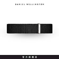DW 錶帶 12mm銀扣 寂靜黑織紋錶帶