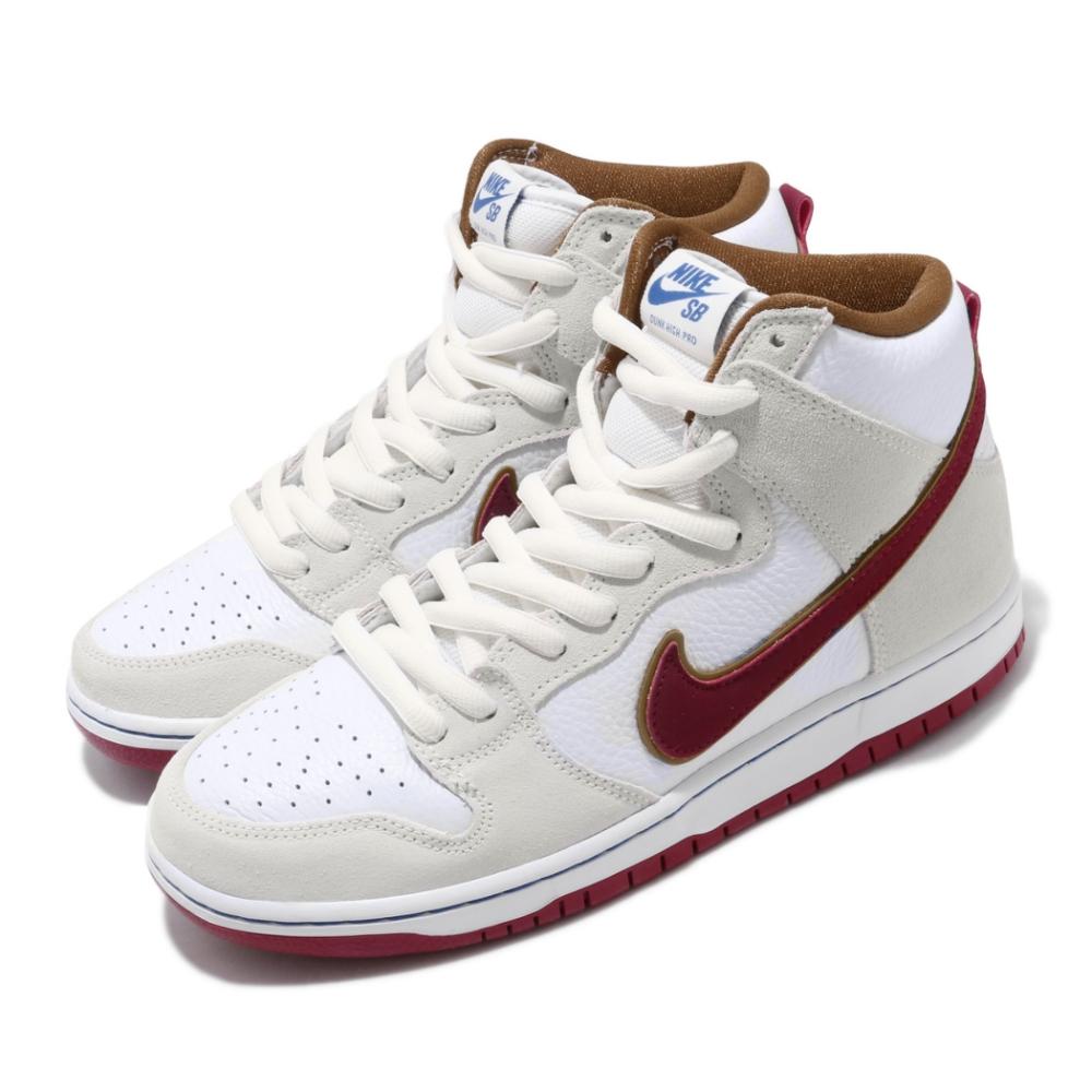 Nike 滑板鞋 Dunk High Pro 高筒 男鞋 經典款 SB 麂皮 舒適 球鞋 穿搭 米白 紅 CV9499100