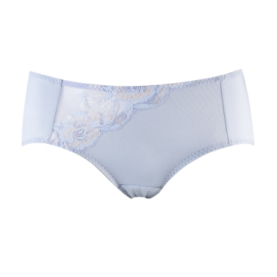 蕾黛絲-花漫飄搭配平口內褲 M-EL 繡球灰藍