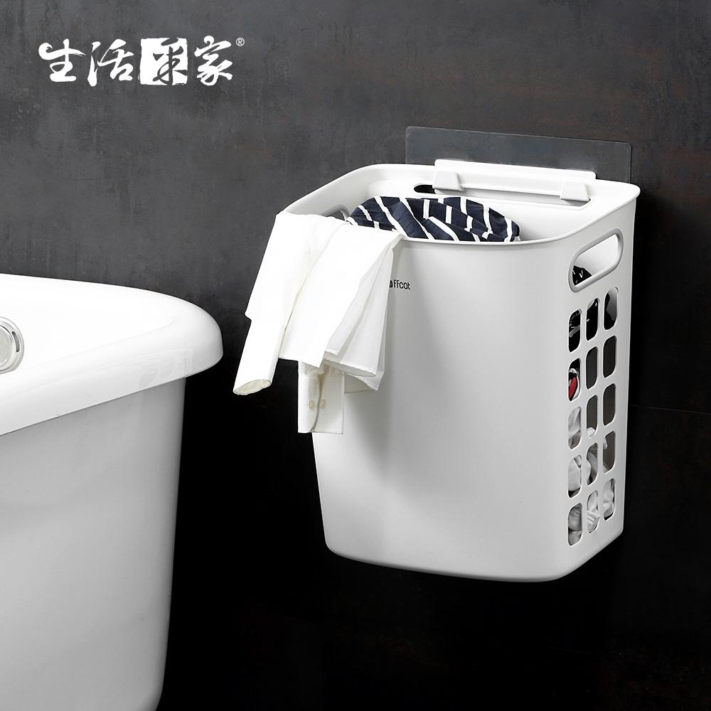 生活采家浴室強力無痕貼換洗衣物髒衣籃