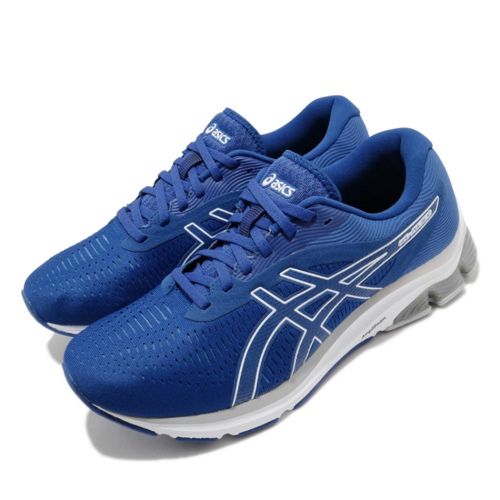 Asics 慢跑鞋 Gel Pulse 12 超寬楦 男鞋 亞瑟士 路跑 緩衝 避震 輕量 亞瑟膠 藍 白 1011A845400
