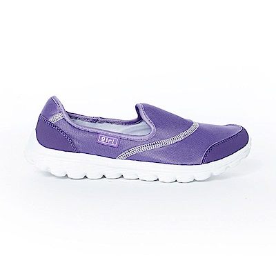 【TOP GIRL】簡約健走無鞋帶懶人休閒鞋-紫色