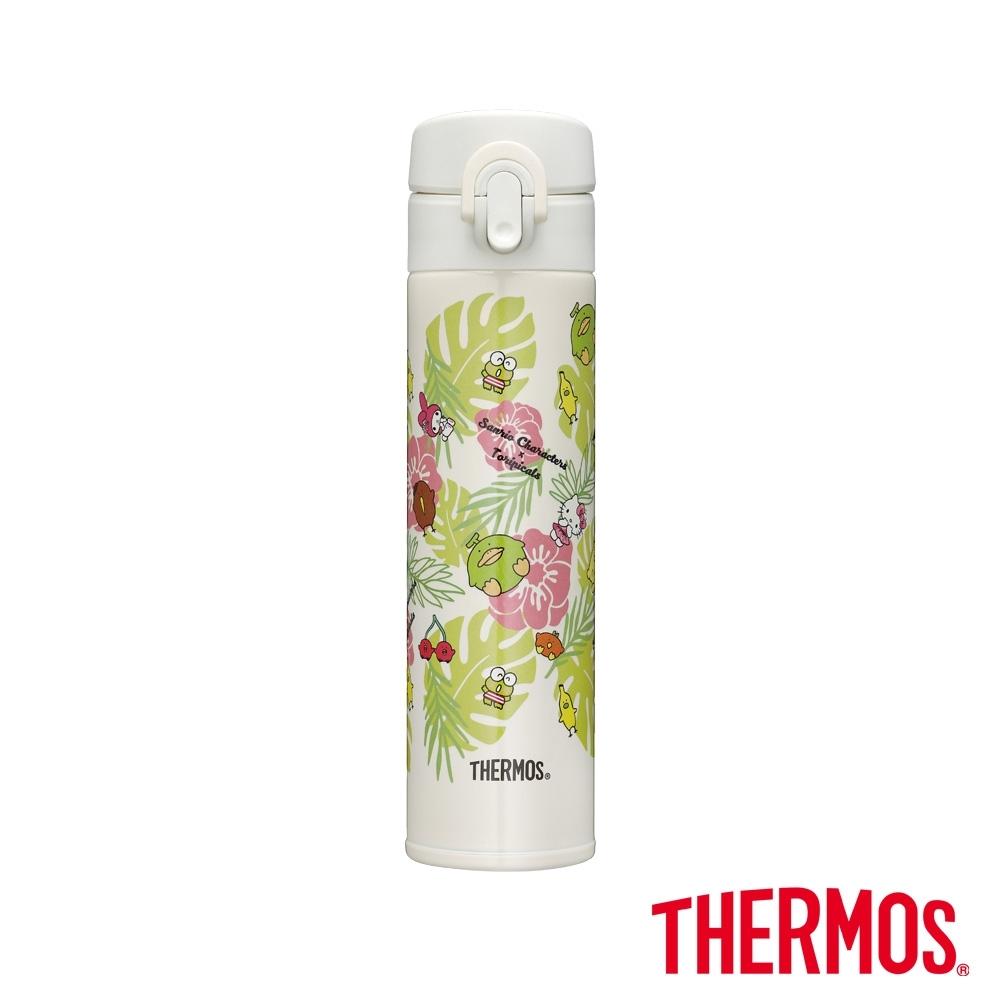 THERMOS膳魔師 三麗鷗家族x熱帶水果鳥 超輕量彈蓋瓶0.4L(JNI-401) product image 1