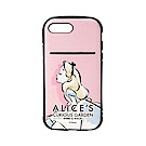 iPhone 8/7 Plus 海外限定 迪士尼 軍規防摔 插卡 軟殼 5.5吋-愛麗絲