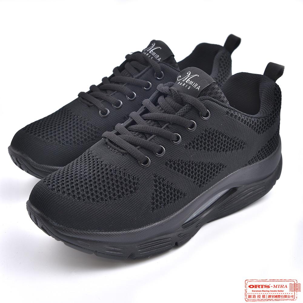 ORIS 女款 增高 氣墊 透氣 網布休閒鞋 W8895T01