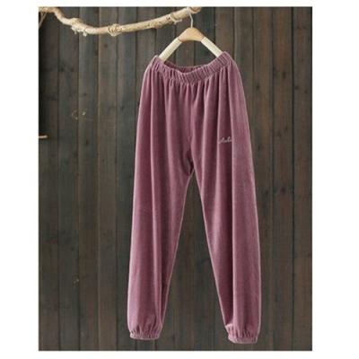 細膩觸感鬆緊腰刺繡束腳休閒寬鬆哈倫褲-設計所在