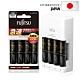 日本富士通 Fujitsu 急速4槽充電電池組(2450mAh 3號4入+充電器+電池盒) product thumbnail 1