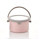 JIA Inc.虹彩鋼 不鏽鋼琺瑯提鍋16cm(粉紅色)(快)