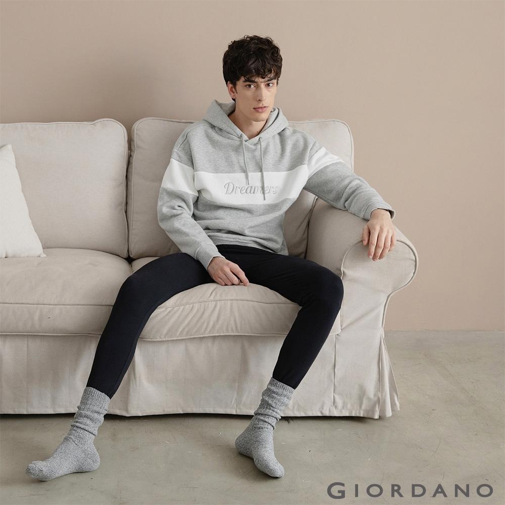 GIORDANO 男裝G-WARMER PLUS+極暖褲 - 02 標誌黑