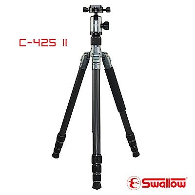 Swallow C-425 II 碳纖五節反折式腳架 (附攝影雲台)