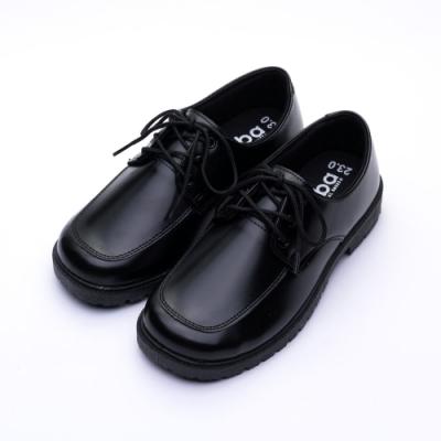 ARRIBA艾樂跑女鞋-綁帶式學生皮鞋-黑(AB6815)