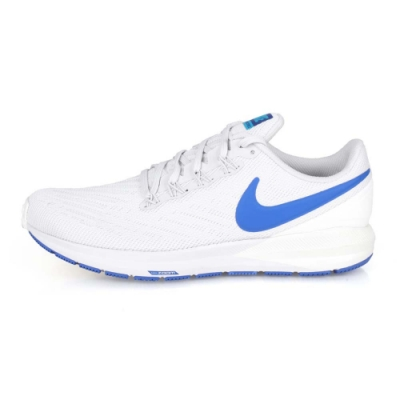 NIKE AIR ZOOM STRUCTURE 22 男慢跑鞋 灰藍