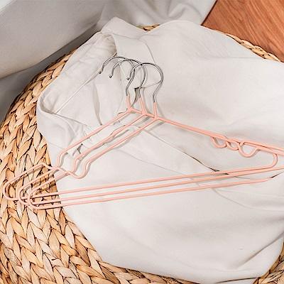 樂嫚妮 覆膜防滑三角曬衣架 30支-珊瑚橘