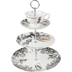 CreativeTops V&A茶杯+3層點心盤(夢遊仙境)