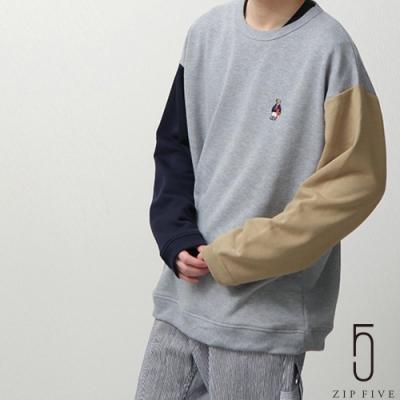 ZIP日本男裝 熊熊刺繡寬版大學TEE (6色)