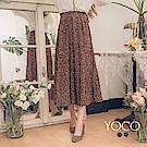 東京著衣-yoco 日系美人鬆緊點點百褶長裙-S.M.L(共二色)