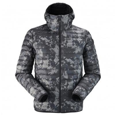 法國【EiDER】男防風抗雪保暖雙面穿連帽外套 / 9EIV4811迷彩黑