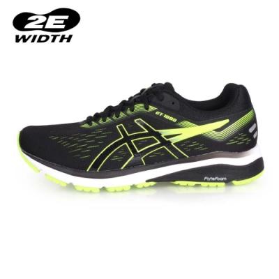 ASICS 男 慢跑鞋-2E GT-1000 7 黑螢光綠