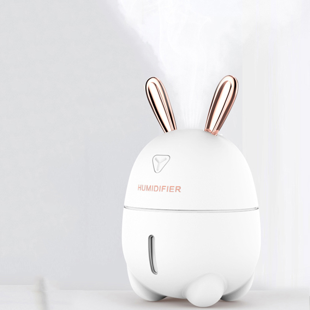 七彩夜燈萌兔加濕器/靜音水氧噴霧機/空氣清新機