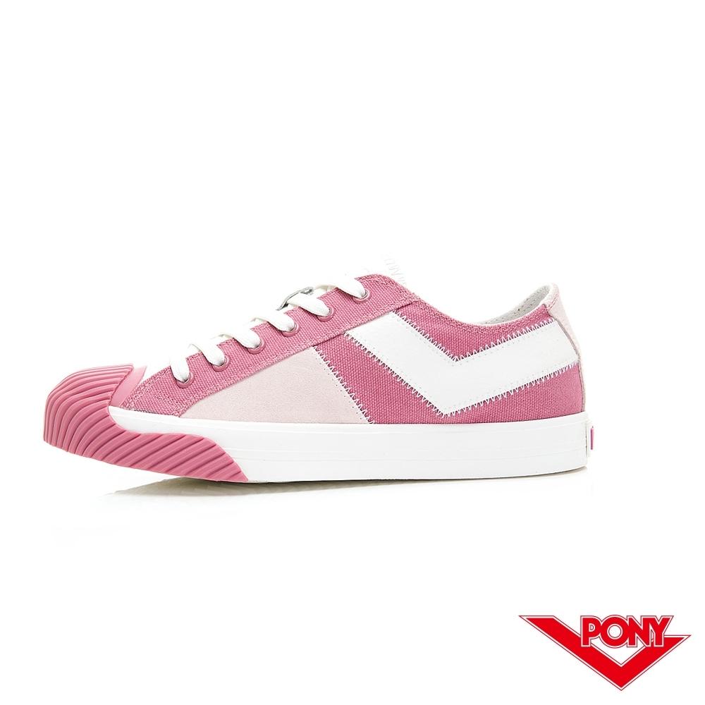 【PONY】Shooter系列 雙色潮流百搭餅乾鞋 帆布鞋 休閒鞋 女鞋 粉色