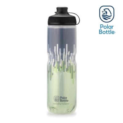 【Polar Bottle】24oz MUCK 雙層保冷噴射水壺 ZIPPER 草綠