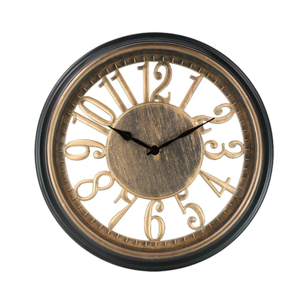 KINYO 13吋 復古華麗風靜音掛鐘/時鐘(CL-149)古銅金