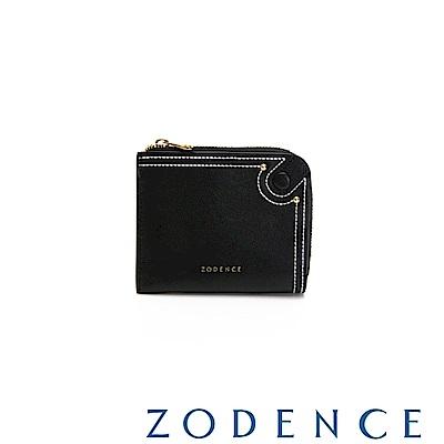 (網路限定)ZODENCE 35周年限定進口牛皮零錢包 黑