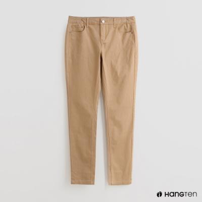 Hang Ten - 女裝 - 純色雙口袋休閒長褲 - 卡其
