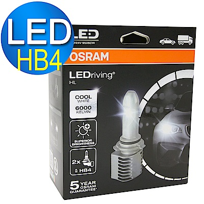 OSRAM 汽車 LED 大燈 / 9006 14W 6000K 9506CW (2入) 公司貨